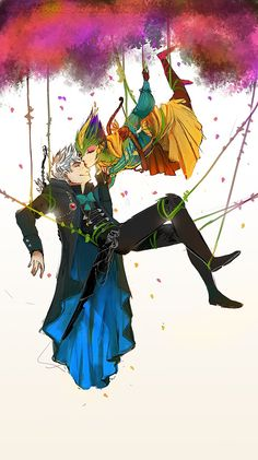 Rise of the Guardians - Jack Frost x Toothiana - Frostbite Dreamworks Animation, Disney And Dreamworks, Disney Animation, Disney Pixar, Rise Of The Guardians, Disney Art, Disney Movies, Guardians Of Childhood, Jack Frost And Elsa