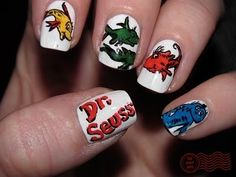 dr seuss!!  I will find someone to do these to my nails..