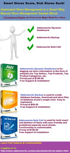 Automated Store management is the smart way to score http://www.addonworks.com/products/storefront-addon.html #eCommerce