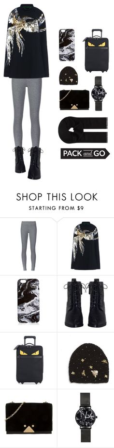 """""""fifteen - pack and go set"""" by roomforaesthete ❤ liked on Polyvore featuring ATM by Anthony Thomas Melillo, Barbara Bui, Zimmermann, Fendi, Jennifer Behr, Emporio Armani and MaxMara"""