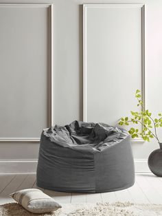 With its generous form and sumptuous, stylish smoke grey velvet finish, our beanbag makes a wonderful spot for a seat - at last, a beanbag for grown-up spaces! Floor Cushions, Faux Fur Bean Bag, Cox And Cox, New Furniture, Home Gifts, Design Trends, Bean Bag Chair, Velvet