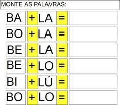 ATividades com as sílabas da letra B para alfabetização | Tendencias BLOG