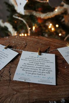 Sticky notes for the soul - for a sane and sacred Christmas.  (by Ann Voskamp) Print this set of 25 free note cards. Each card is an affirmation, a prayer, for each day this December, to help keep the focus and to celebrate Christ!