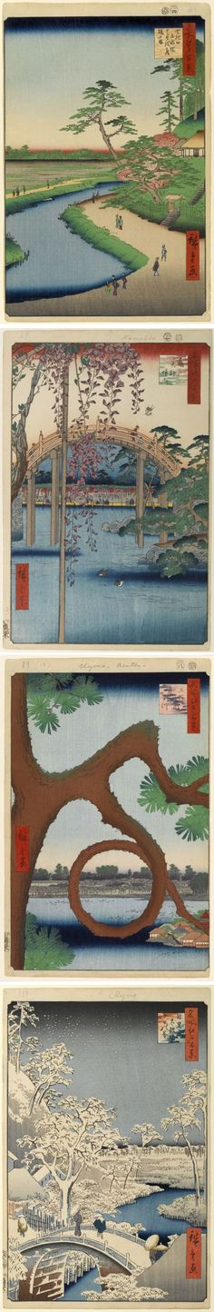 lines and colors :: a blog about drawing, painting, illustration, comics, concept art and other visual arts » Hiroshige's One Hundred Famous Views of Edo