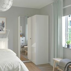 PAX Corner wardrobe, white, Fardal Vikedal, 43 A wardrobe fit for the one that loves folding! Ikea Pax Corner Wardrobe, Corner Closet, Diy Wardrobe, Bedroom Wardrobe, Wardrobe Wall, Armoire Wardrobe, Small Wardrobe, Wardrobe Storage, Dressing Angle