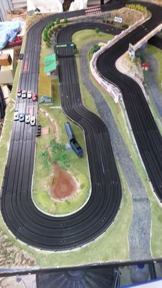 Exciting 4 lane AFX slot car layout - fully landscaped! in Toys, Hobbies, Slot Cars, Cars | eBay