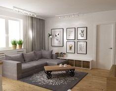 mieszkanie jasne w stylu nowoczesnym/skandynawskim 60m2 - Mały salon z bibiloteczką, styl skandynawski - zdjęcie od Grafika i Projekt architektura wnętrz