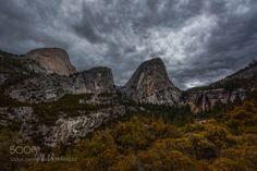 Grumpy Yosemite by DaniloFaria  mountains fall waterfall storm stream granite grumpy ND filter Yosemite National Park California Pol