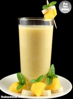 Pineapple smoothie...