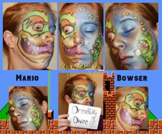 This look I created bring me back to my childhood. I played Super Mario all the time and couldn't resist trying this Mario/Bowser look for a Heroes/Villains contest!