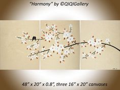 original acrylic painting 48 abstract landscape by QiQiGallery