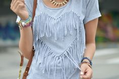 Trash To Couture: DIY fringe heart