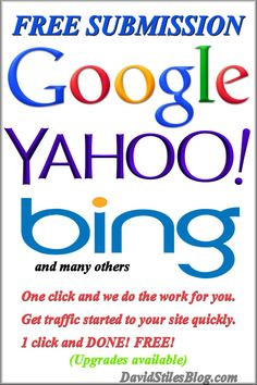 SUBMIT YOUR SITE FREE TO GOOGLE, BING