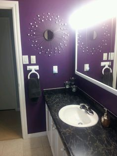 Purple bathroom  Web Site : http://bathadorn.in/ Email: bathadorn@gmail.com Blog : http://blog.bathadorn.in/  If you like this like our Page :https://www.facebook.com/bath.adorn