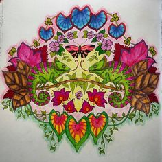 Inspirational Coloring Pages by Garden Coloring Pages, Secret Garden Coloring Book, Adult Coloring Book Pages, Colouring Pages, Coloring Books, Pen And Watercolor, Watercolor Artwork, Artwork Paintings, Colored Pencil Artwork