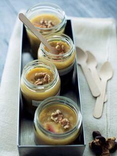 Recipe : レンズ豆とりんごのぜんざい/大好きなナッツを いっぱい散らして