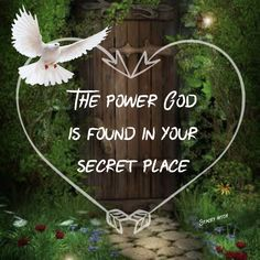God dwells in your secret place and is able to see into your heart as well as your mind. It is the back side of the mountain where it is just you and Jesus in the raw with no flowery words or distractions....just pure intimacy with our Lord to feel His warm embrace.  It is the secret place that you receive peace, forgiveness, healing, love, protection, grace, blessings, wisdom, strength, and so much more.  Make room for God and carve out time for Him in your life everyday