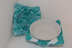 Reversible Microwave Bowl Cozy, Set of Two Small - pinned by pin4etsy.com