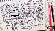 Beach Party - Hello Doodles - Easy and Kawaii Drawings by Garbi KW