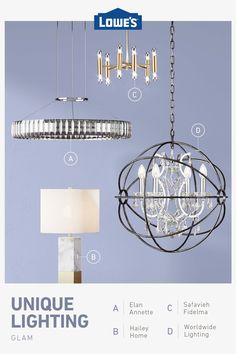 Shop lighting and ceiling fans like chandeliers, wall sconces and deck lighting. Chandelier Picture, Chandelier Fan, Kitchen Chandelier, Chandeliers, Le Lighting, Unique Lighting, Lighting Ideas, Paris Rooms, Ceiling Fan