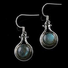 925 Solid Sterling Silver Labradorite Gemstone Handmade Earrings Jewelry #Handmade #DropDangle #Party