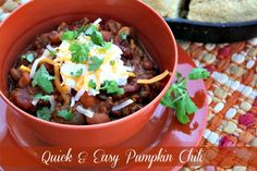 Mommy's Kitchen: 30 Minute Meal: Quick & Easy Pumpkin Chili