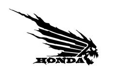 The vector file Honda Wing Skull Decal Sticker DXF File is AutoCAD DXF ( .dxf ) CAD file type, size is KB, under logo, signs and symbols, symbols vectors. Motos Honda, Honda Bikes, Honda Cb, Motorcycle Stickers, Motorcycle Logo, Honda Wing, Free Vector Patterns, Face Lines, Pinstriping