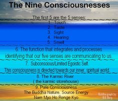 The nine consciousnesses  as expounded in S.G.I. Buddhism