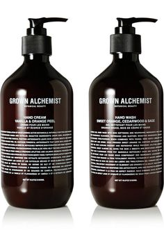 Grown Alchemist - Hand Wash & Hand Cream Twin Set, 2 X - Colorless Hair Cleanse, Body Cleanser, Rosehip Oil, Travel Kits, Sweet Almond Oil, Hand Cream, Alchemist, Hand Washing, Natural Oils