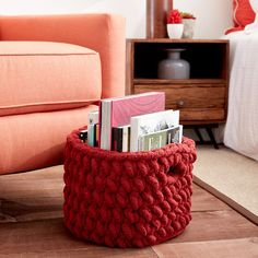 Bernat® Blanket Big™ Burly Crochet Basket http://www.michaels.com/m/B_84298