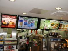 McDonalds UK Digital Menu Boards
