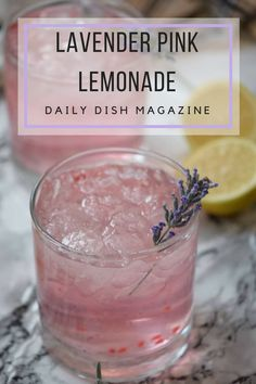 Make this scrumptious pink lavender lemonade with either fresh lavender from the garden or chose an essential oil. You're gonna win! Refreshing Drinks, Summer Drinks, Fun Drinks, Healthy Drinks, Beverages, Colorful Drinks, Non Alcoholic Drinks, Cocktail Drinks, Cocktails