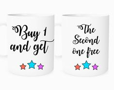 Buy 1 get 1 free coffee mugs, personalized gifts for mom, boyfriend and girlfriend gift set, husband or wife gift set, wedding mugs gift set for 2