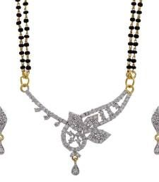 Buy TRADIONAL AD STONE STUDDED CUBIC ZIRCONIA MANGALSUTRA mangalsutra online
