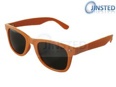 A fantastic pair of adult orange wayfarer sunglasses with a black tinted lens.  There are easy and comfy to wear and easily to maintain with a soft cloth. These sunglasses are not only fashionable and stylish but help protect against the sun also.  The lenses and UV 400 protected that help against the suns harmful rays.  These sunglasses not only look cool but never go out of fashion with this style worn amongst the rich, famous and celebrities alike.