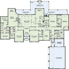 European Style House Plan - 4 Beds 3.5 Baths 4810 Sq/Ft Plan #17-2387 Floor Plan - Main Floor Plan - Houseplans.com