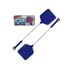 Fly swatter value pack-Package Quantity,48 >  This 2 pack of fly swatters are a home essential! Stop flies in their tracks. Features two fly swatters with plastic heads and twisted metal handles for an easy grip. Comes packed in a heade... Check more at http://farmgardensuperstore.com/product/fly-swatter-value-pack-package-quantity48/