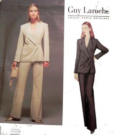 Vogue 2498  Guy Laroche Suit pattern by retroactivefuture on Etsy, $10.00