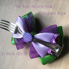 The Ariel Inspired Bow by FangirlCreation on Etsy