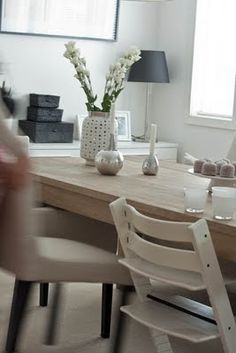 The Stokke Tripp Trapp High Chair Accents Perfectly With Home Furniture.  Find Yours At Www.californiacozy.com #tripptrapp #stokke #highchair #baby #  ...