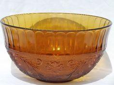 Antique Tiara Glassware Prices | ... amber glass punch bowl / cups set, vintage Tiara sandwich glass #2