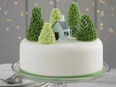 """Новогодний торт """"Домик в лесу"""" NY0232"""