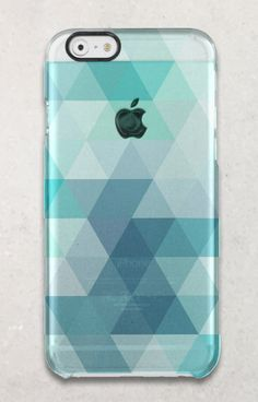 A modern blue, green, mint and aqua geometric triangle pattern iPhone 6 case. Update the look of your phone with a cool new cover. Also available in other models. Personalization can be added at no additional cost.