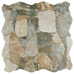 SomerTile 17.75 x 17.75-inch Atticus Gris Stone-look Ceramic Floor and Wall Tile (Case of 7). Overstock.com