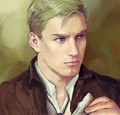Brilcrist's interpretation of realistic Erwin Smith is just the way I would imagine him too ^^ You can see Mikasa, Levi, Jean and Armin as well on Brilcrist's Tumblr profile!