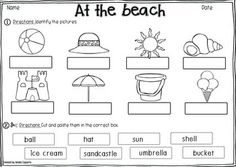 AT THE BEACH VOCABULARY PACK - TeachersPayTeachers.com