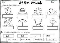 AT THE BEACH VOCABULARY PACK - TeachersPayTeachers.com