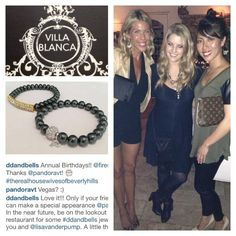 So good to be back! Another D&B Celeb. Another D&B Custom Stack. Hope you love your bracelets Pandora! The Divine Addiction. @pandoravt #ddandbells #villablanca #realhousewivesofbeverlyhills #vanderpumprules