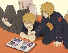 Jiraiya, Naruto & Minato