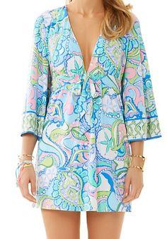Lilly Pulitzer Tropez V-Neck Tunic Dress in Multi Conch Republic